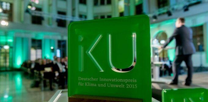 Die Verleihung vom Deutschen Innovationspreis für Klima und Umwelt im Jahr 2015